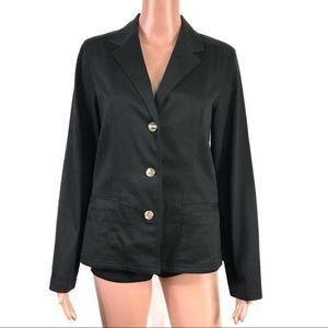Tommy Bahama Black Blazer Size 6 Cotton Blend